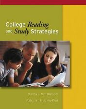 College Reading and Study Strategies (with InfoTrac) (Study Skills/Critical Thi