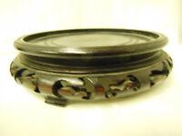 Socle en bois de vase Asiatique / Diamètre de la base du vase: 10 cm