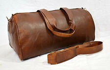 Bag Leather Duffle Travel Men Luggage Gym Vintage Genuine Weekend Overnight New