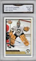 GMA 10 Gem Mint MARC ANDRE FLEURY 2003/04 Pacific COMPLETE ROOKIE CARD VEGAS!