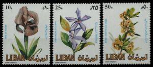 Libanon 1984 - Mi-Nr. 1321-1323 ** - MNH - Blumen / Flowers