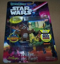 Vintage Star Wars Bend-Ems Justoys Wicket the Ewok Carded 1993