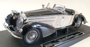 Sun Star 1/18 Scale Model Car 2405 - 1939 Horch 855 Roadster - Black/White