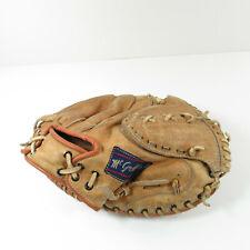 New listing Vintage McGraw 499 Proffessional Style Leather Catchers Mitt RHT Contour Pocket