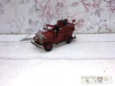 Clayre & Eef Auto Metall Vintage Deko Feuerwehrauto
