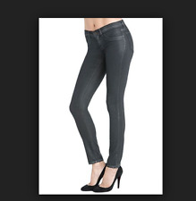 J BRAND LEGGINGS 901 BLACK PEARL shimmer waxed skinny ankle jeans 26 NWT