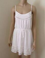 NWT Hollister Womens Lace Dress Size Medium Sundress Beaded White