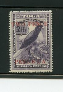 Tonga MH #68 Surcharge 1923  Parrot A357