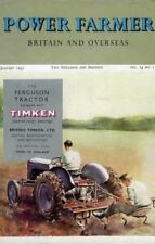 POWER FARMER (JAN 1955) HAS GREAT ARTICLES + FERGUSON LAND ROVER RANSOME ETC Ads