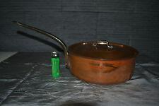 Belle casserole en cuivre étamé et son couvercle 23cm 2kg500 !!!