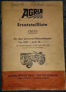 Agria Universal- Kleinschlepper 4800 Ersatzteilliste