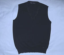 DSQUARED Fine Knit Wool&Silk blend V neck Sweater Vest-Size L/Skinny fit-Black.