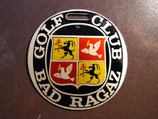 Medaille Plakette Bad Ragaz Golf Club 1895-1970 75 Jahr Mellingen ca 57mm Metall
