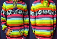 BUNT Shakira Kapuzen Pullover Pulli Alpaka Warm Ethno Boho Peru Damen XL NEU