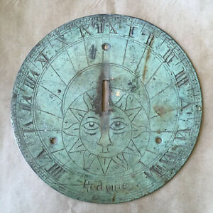 Antique Brass Sundial 18th Century