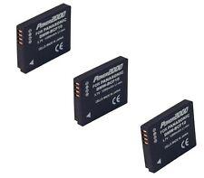 THREE 3X Batteries for Panasonic DMW-BCF10 DMW-BCF10PP DMW-BCF10E