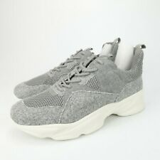 Steve Madden Mens Sneakers MOVER Grey Flannel Athletic Dad Shoes Size 10