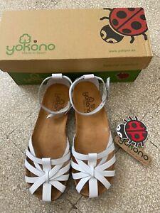 Yokono sandalo bianco pelle 37 comodissimo