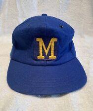 "Milwaukee Brewers Vintage Inaugural 1970-1977 ""Block M"" Style Baseball Cap / Hat"