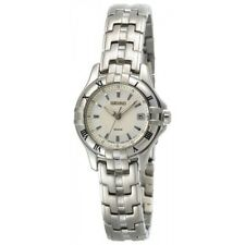 SEIKO LE GRAND SPORT DATE SILVER DIAL STAINLESS STEEL WOMEN'S WATCH SXDA29 NEW