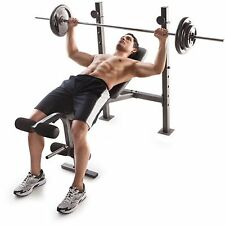 Golds Gym Bench Press Weights Lifting Barbell Exercise Home Incline Exercise