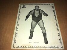 Bull Gregory 1970's Grand Prix 8x10 Wrestling Photo A