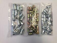100 pezzi assortimento di 6mm, 8mm e 10mm hexserts Nutserts Rivnuts, META 'Hex