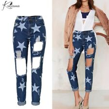 womens Ripped jeans with stars Glamours