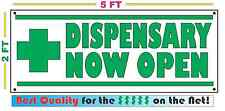 Dispensary Now Open Banner Sign New Larger Size for Convenience Store Smoke Shop
