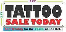 Tattoo Sale Today Full Color Banner Sign New2X5