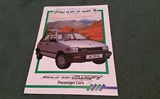 April 1986 SUZUKI ALTO SWIFT inc GS - UK BROCHURE Brown Brothers Peebles Sticker