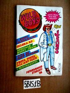 WILD BOYS n.4 con copertina adesiva ANNO I GIUGNO 1986 Cucador  (5BIS1B)