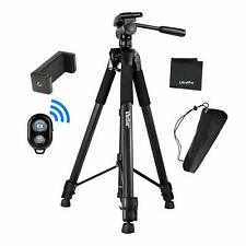 "UltraPro 72"" Camera Tripod w Smartphone Mount + Bluetooth Remote Control Shutter"