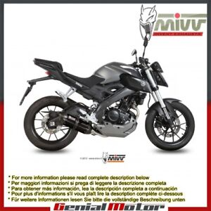 Mivv Complete Exhaust Suono Black Stainless Steel for Yamaha Mt-125 2015 > 2018