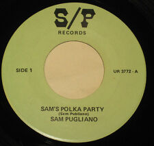 "Sam Pugliano Walter Ostanek 7"" 45 Sam's POLKA Party Stoney Hill POLKA HEAR ♫"