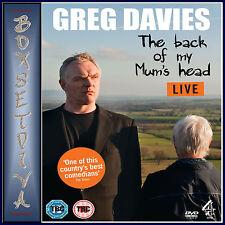 GREG DAVIES LIVE - THE BACK OF MY MUMS HEAD   **BRAND NEW DVD **