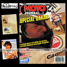 MOTO JOURNAL N°782 HUSQVARNA 510 SUPERMOTARD LAURENT PIDOUX ★ PARIS-DAKAR 1987 ★