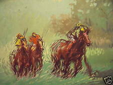 "A.BIGDUNGLADEWA LISTED OIL PAINTING ""HORSE RACING"" 1993"