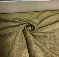 SUPER LUXURIOUS 2TONE BROWN SOFT CHENILLE CURTAIN UPHOLSTERY FABRIC 3 METRES