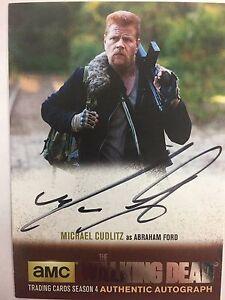 Walking Dead Season 4 PART 2 - SILVER Michael Cudlitz - Abraham AUTOGRAPH MC1