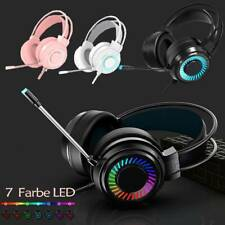 Gaming Kopfhörer 3,5mm Headset USB mit Mikrofon Stereo RGB LED für PS4 Xbox PC