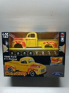 "MAISTO ""1948 Ford F-1 Pickup"" Assembly Line 1:25 Diecast Model Kit #39900 2000"