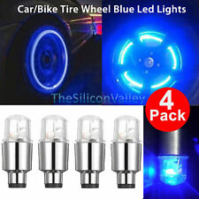 4PCS Blue LED Wheel Tyre Tire Valve Caps Neon Light Bulb for Bike Car Motorcycle