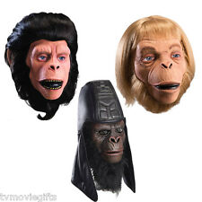 Planet of the Apes Dlx Mask Set of 3 Cornelius, Usurus, Zaias Licesnsed New