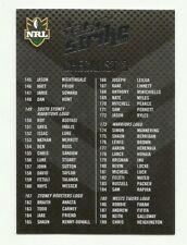 2011 NRL SELECT STRIKE CHECKLIST # 3 COMMON CARD FREE POST