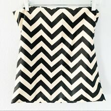 Gray and Ivory Chevron Decorative Pillowcase Pillow Cover Square 17 by 17 Inches