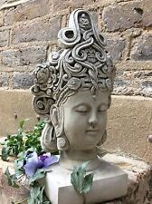 For The Home Or Garden. Divine Beautifully Detailed Kwan Yin Bust  Statue