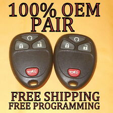 OEM PAIR GM GMC CHEVY BUICK CADILLAC SATURN KEYLESS REMOTE FOB OUC60221 OUC60270