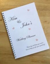 A5 Personalised Wedding Planner Bride to Be Brides Note Book Journal Organiser