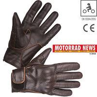 MODEKA Motorradhandschuhe HOT CLASSIC dunkelbraun Leder Sommer CE Retro 9 / L